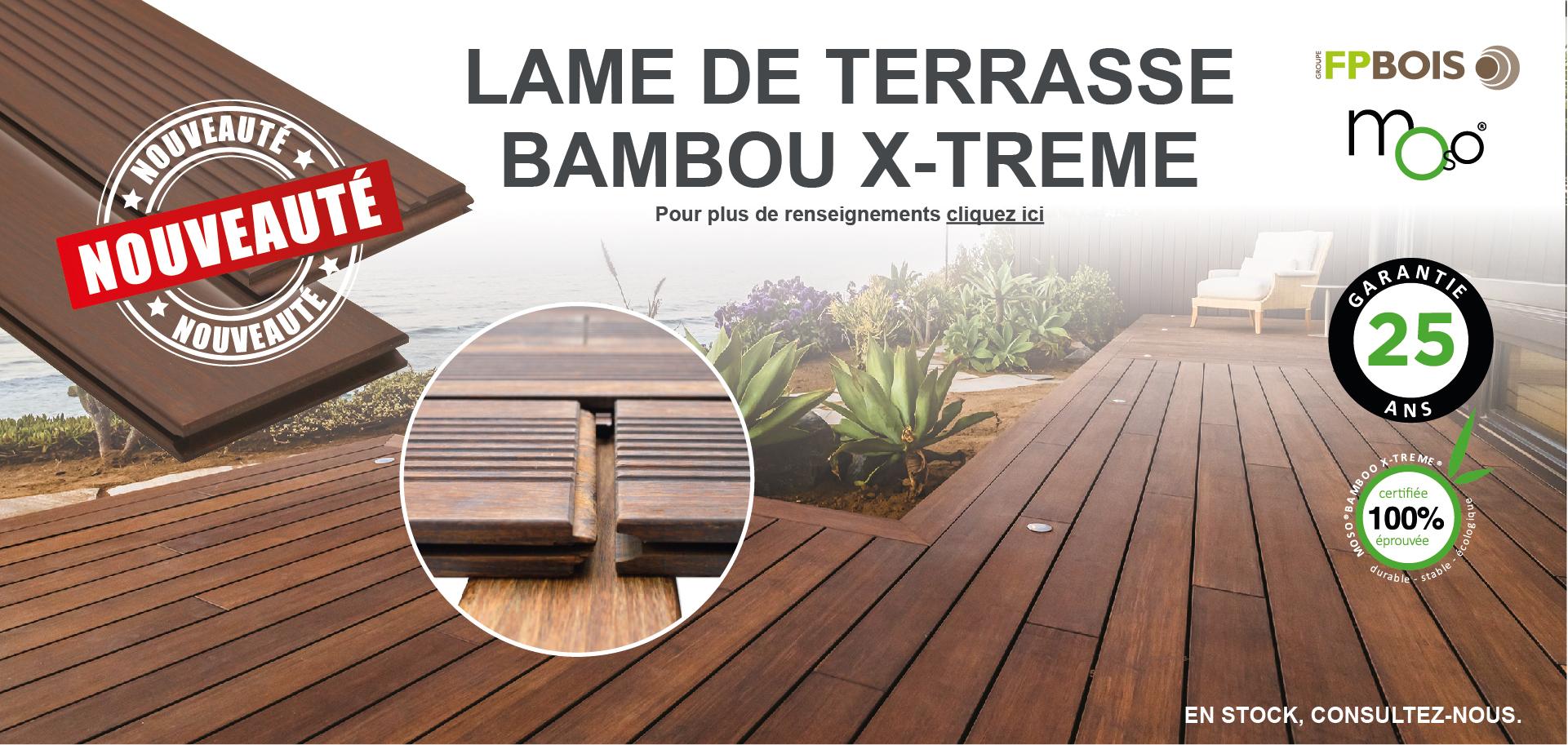 Lame de terrasse bambou X-Trem - Doineau
